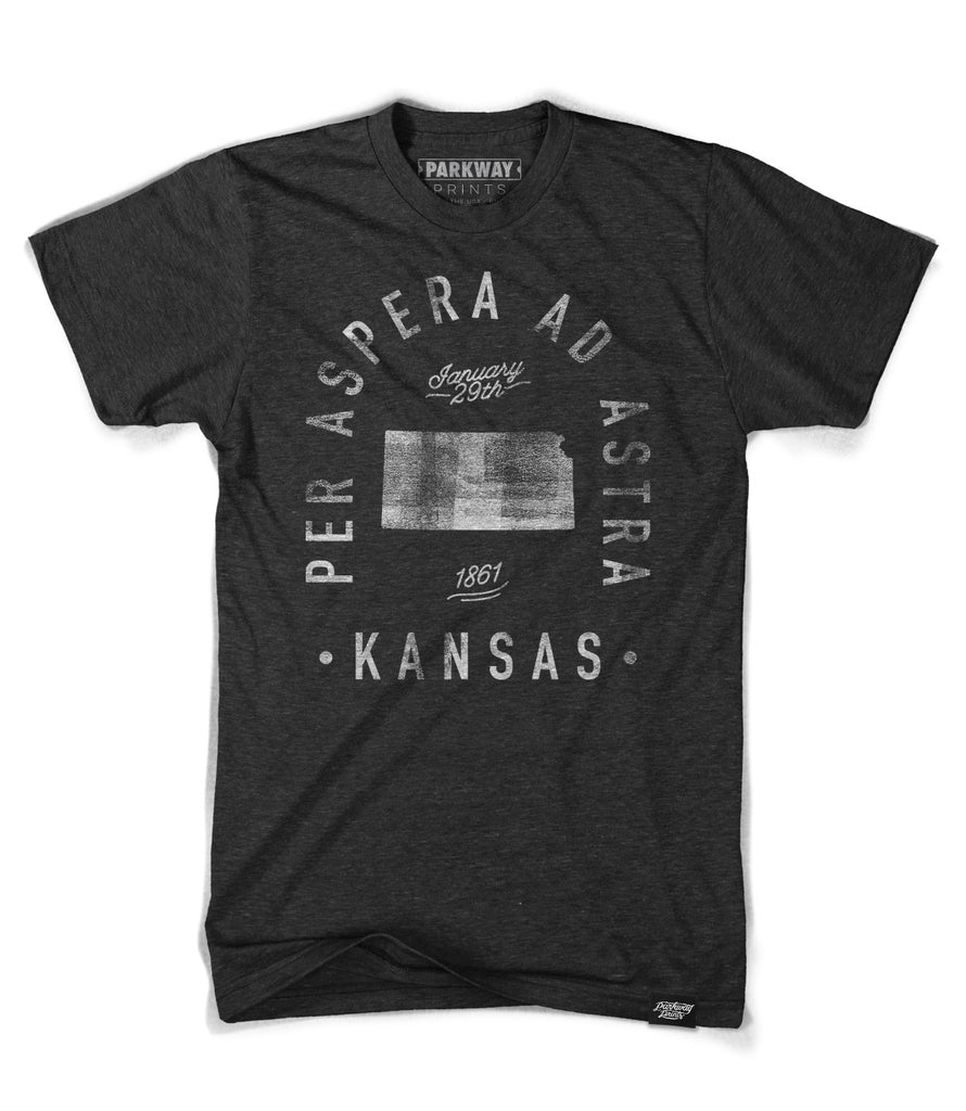 State of Kansas Motto Shirt - Parkway Prints