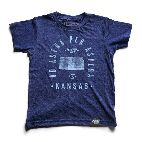 State of Kansas Motto Youth Shirt