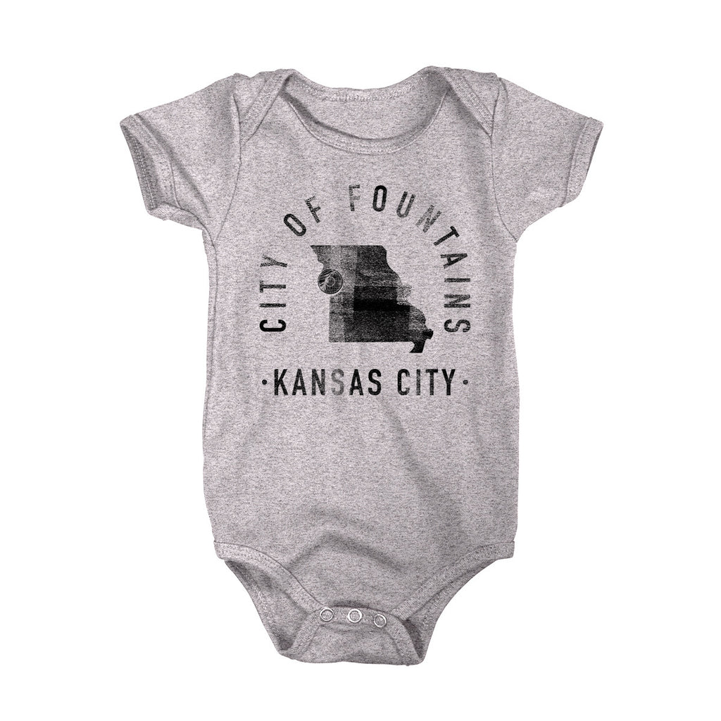 Kansas City Missouri - City Motto Onesie - Unisex - Parkway Prints