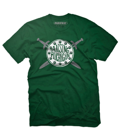 Lansing Michigan Shirt - Evergreen - Unisex - Parkway Prints