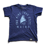 State of Maine Motto Youth Shirt - Parkway Prints