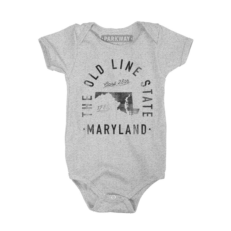 Maryland - State Motto Onesie - Unisex - Parkway Prints