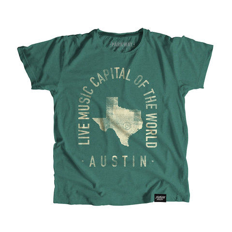 Austin Texas - City Motto Youth Shirt - Parkway Prints
