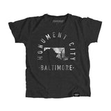 Baltimore Maryland - City Motto Youth Shirt - Parkway Prints