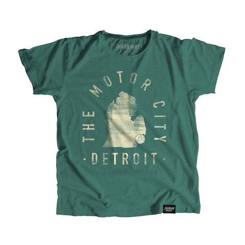 Detroit Michigan - City Motto Youth Shirt - Parkway Prints