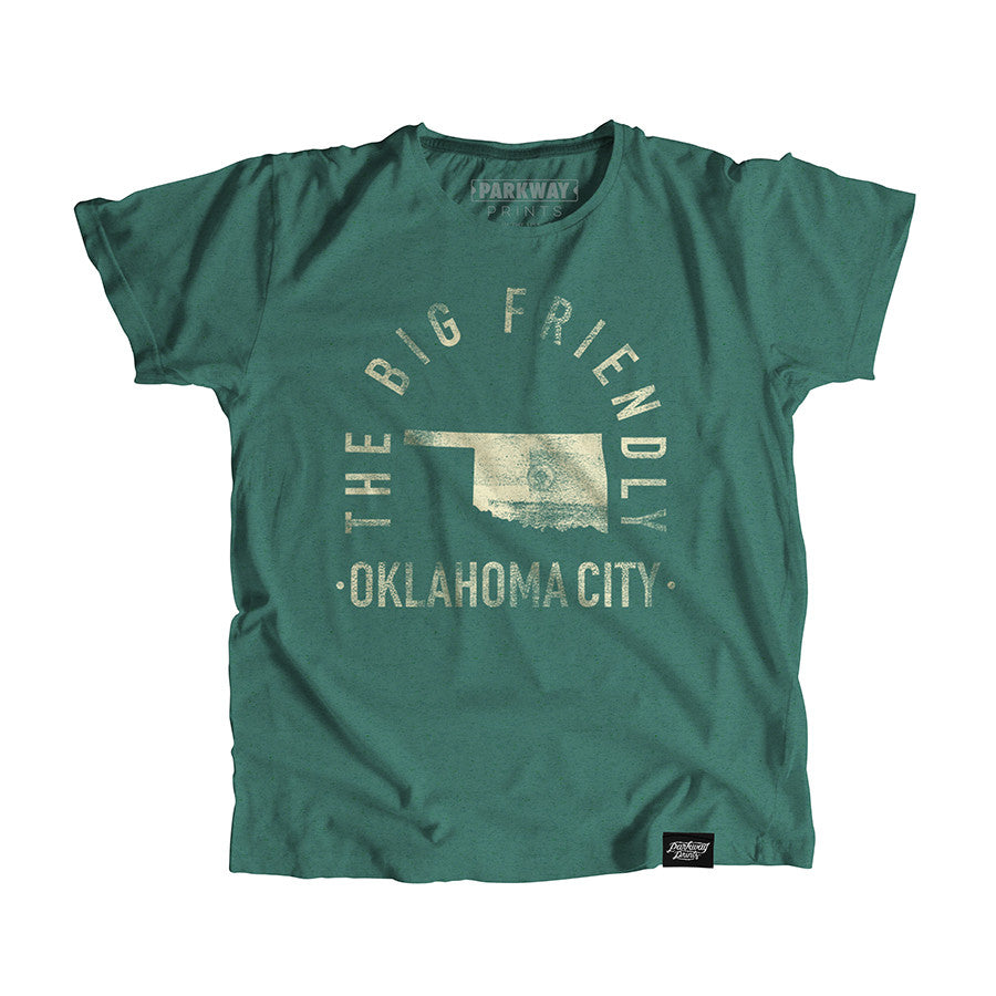 Okhoma City Oklahoma - City Motto Youth Shirt - Parkway Prints