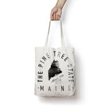 State of Maine - Motto - Tote Bag - Parkway Prints