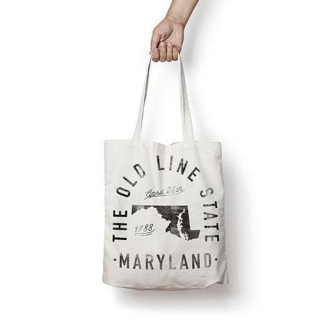 State of Maryland - Motto - Tote Bag