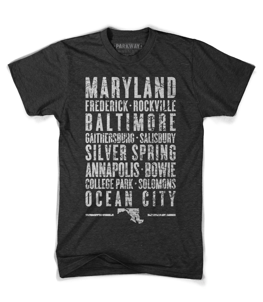 Maryland State Shirt - Unisex - Parkway Prints