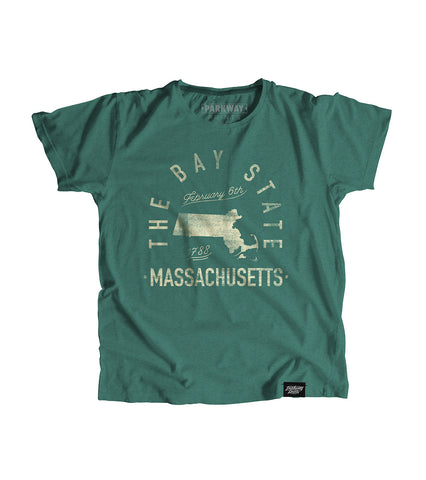State of Massechusetts Motto Youth Shirt - Parkway Prints