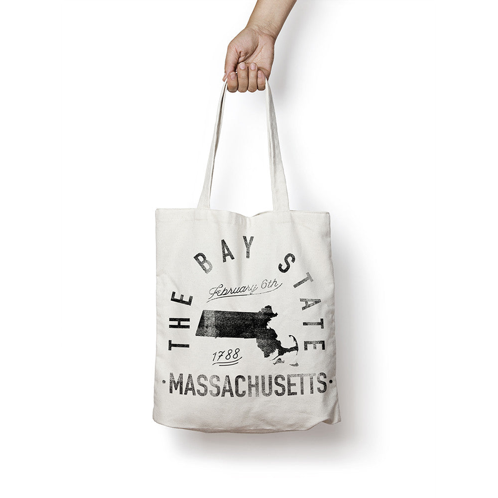 State of Massachusetts - Motto - Tote Bag