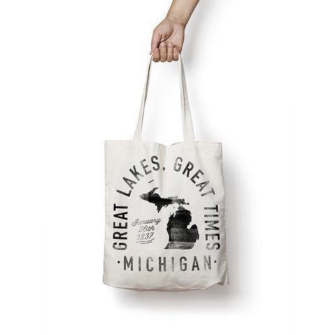 State of Michigan - Motto - Tote Bag - Parkway Prints