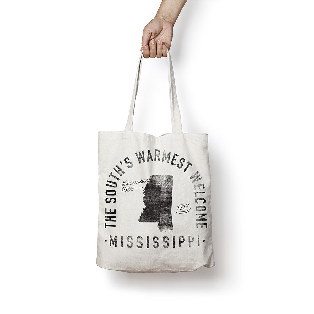 State of Mississippi - Motto - Tote Bag