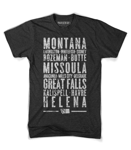 Montana State Shirt - Unisex - Parkway Prints