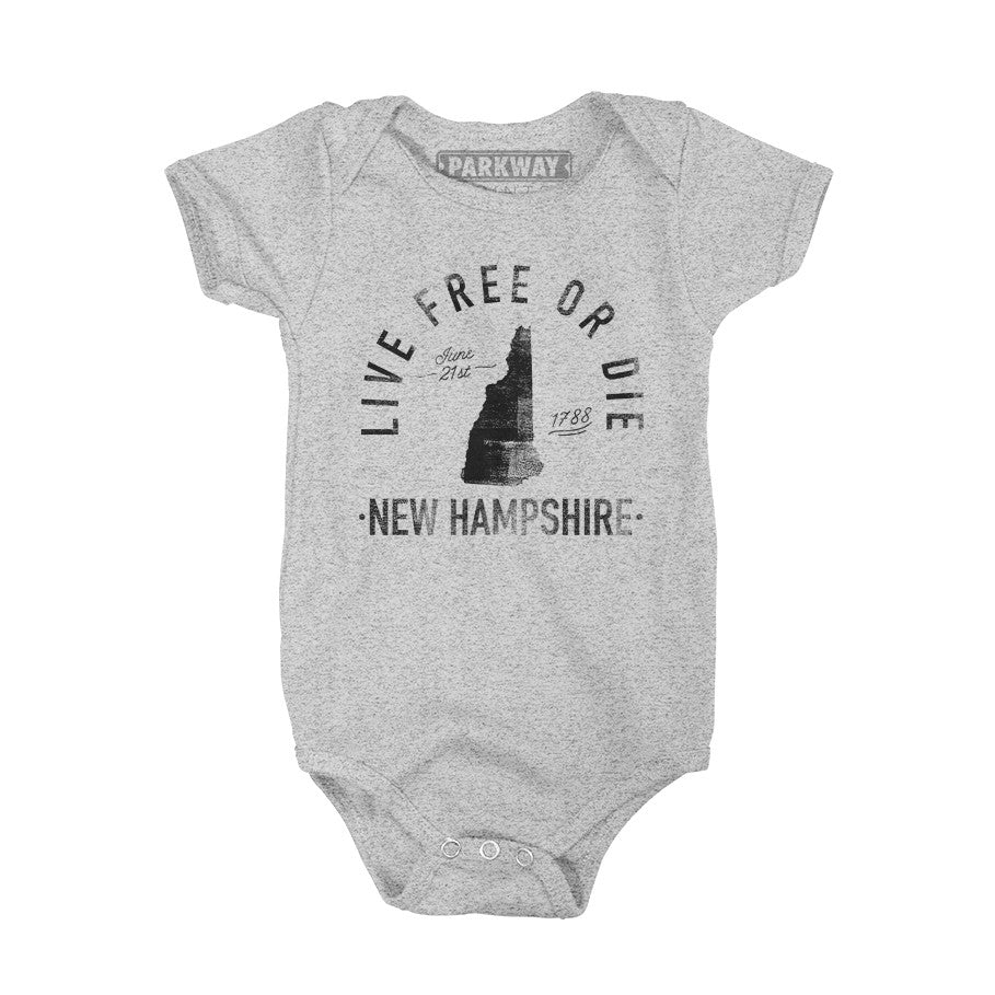 New Hampshire - State Motto Onesie - Unisex - Parkway Prints
