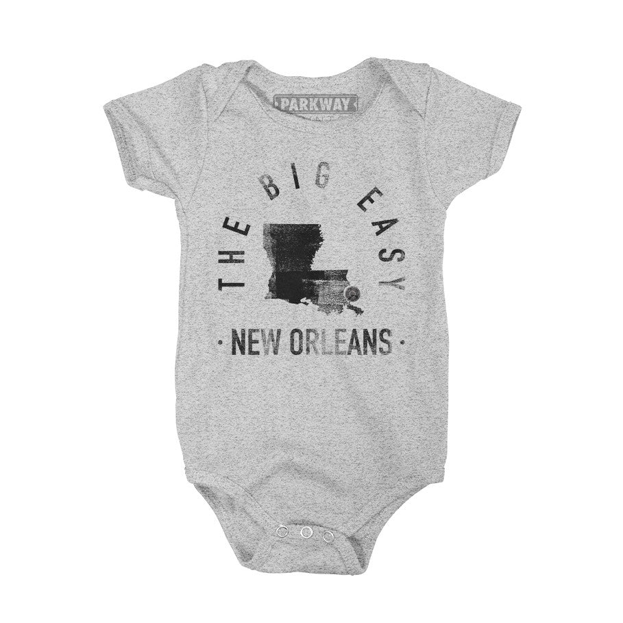 New Orleans Louisiana - City Motto Onesie - Unisex - Parkway Prints