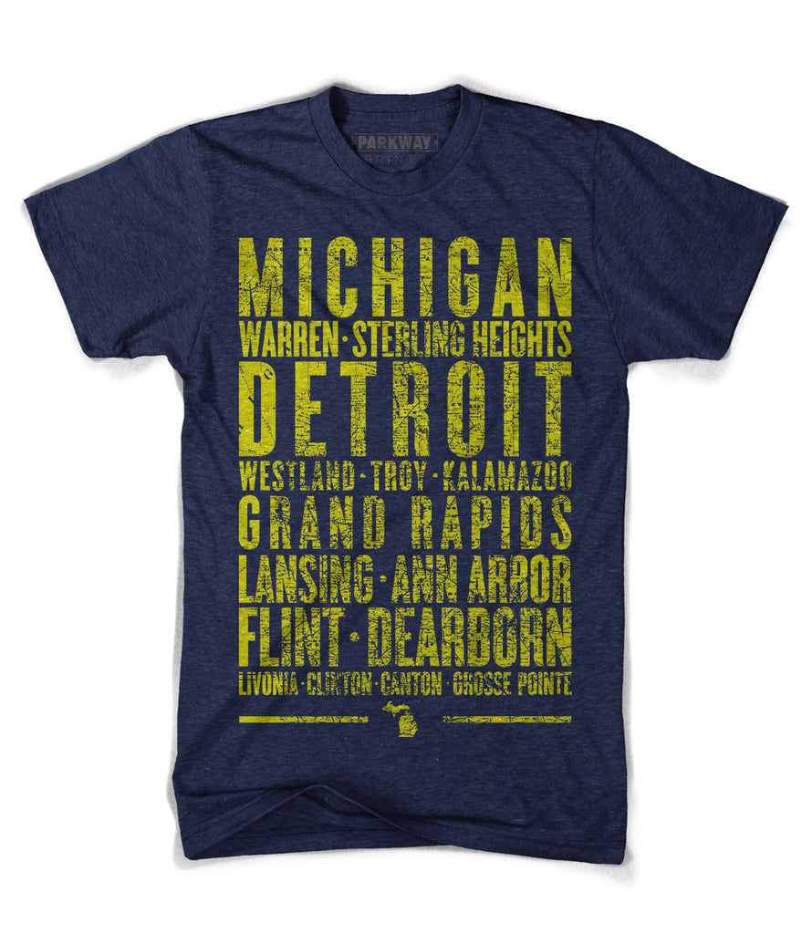 Michigan Varsity Shirt - Unisex - Parkway Prints