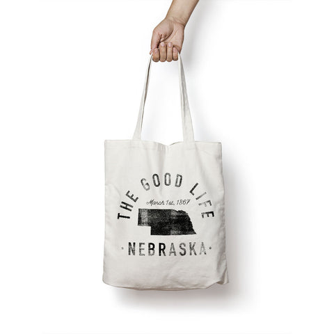 State of Nebraska - Motto - Tote Bag - Parkway Prints