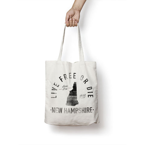 State of New Hampshire - Motto - Tote Bag