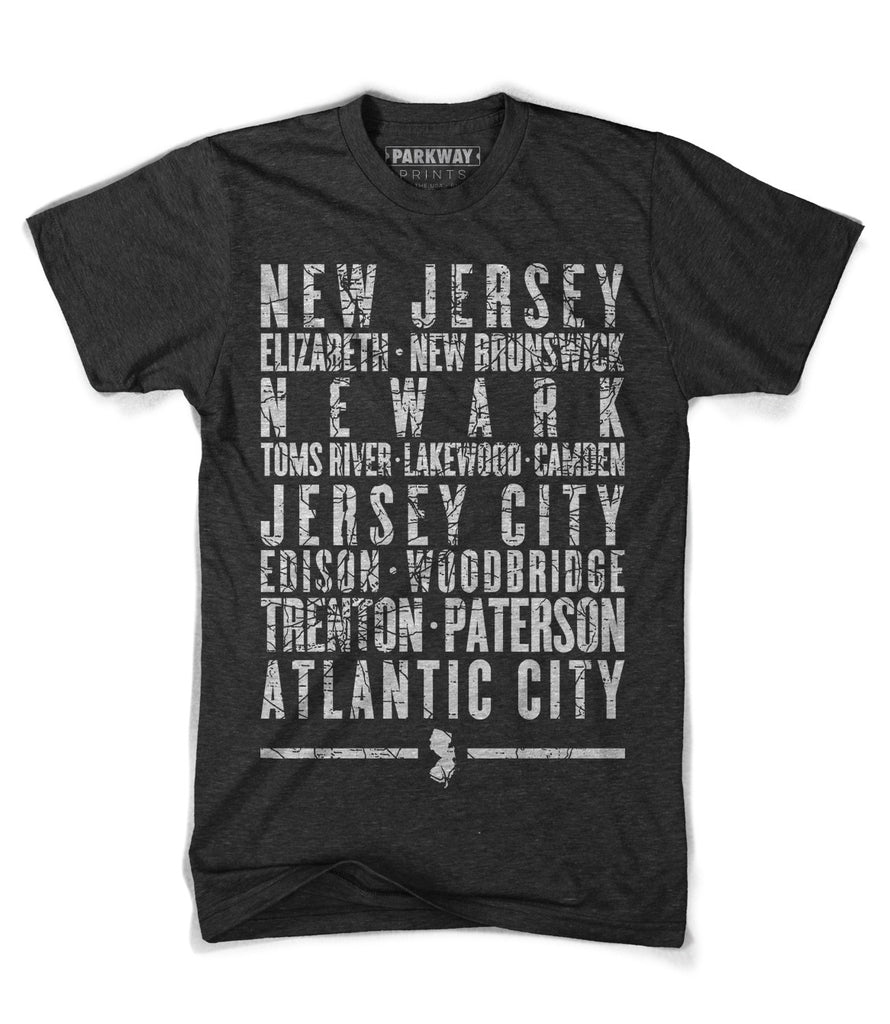 New Jersey State Shirt - Unisex - Parkway Prints