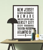 "New Jersey State Poster - 18"" x 24"" - Parkway Prints"