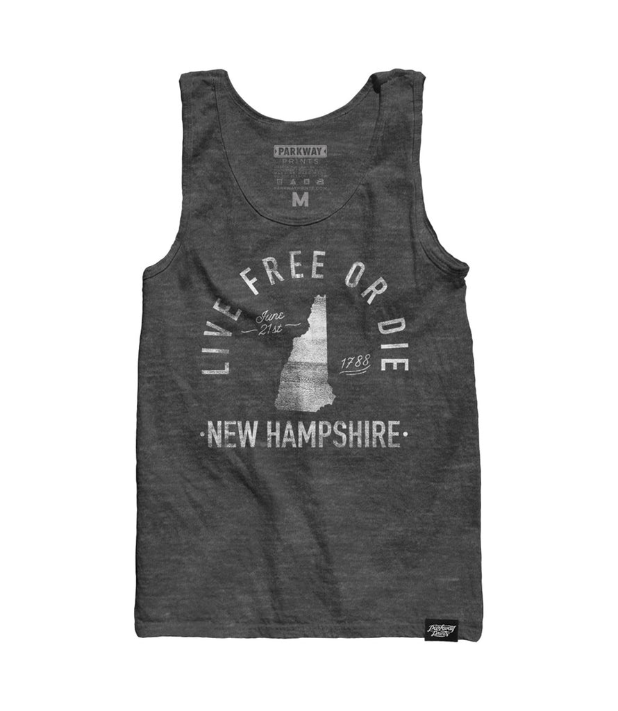 State of New Hampshire - Motto - Tank Top - Parkway Prints