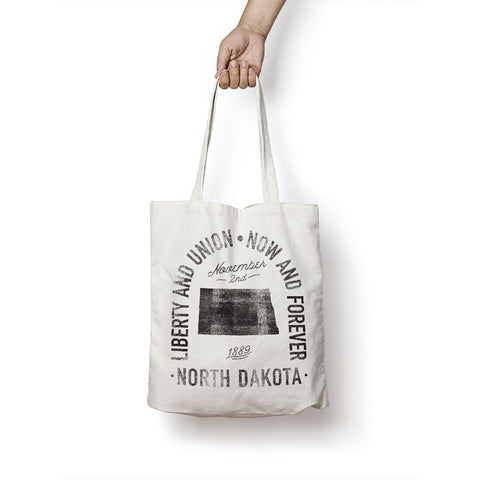 State of North Dakota - Motto - Tote Bag - Parkway Prints