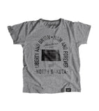 State of North Dakota Motto Youth Shirt - Parkway Prints