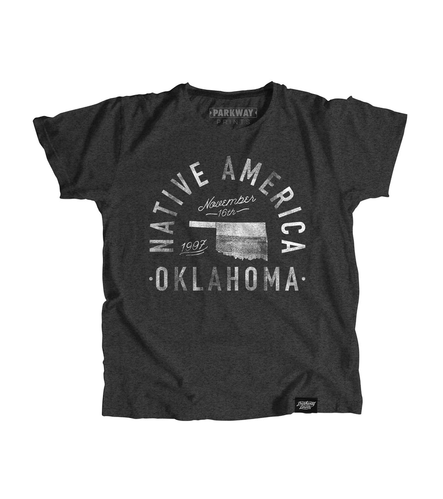 State of Oklahoma Motto Youth Shirt - Parkway Prints