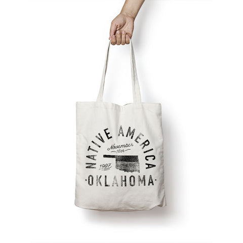 State of Oklahoma - Motto - Tote Bag - Parkway Prints