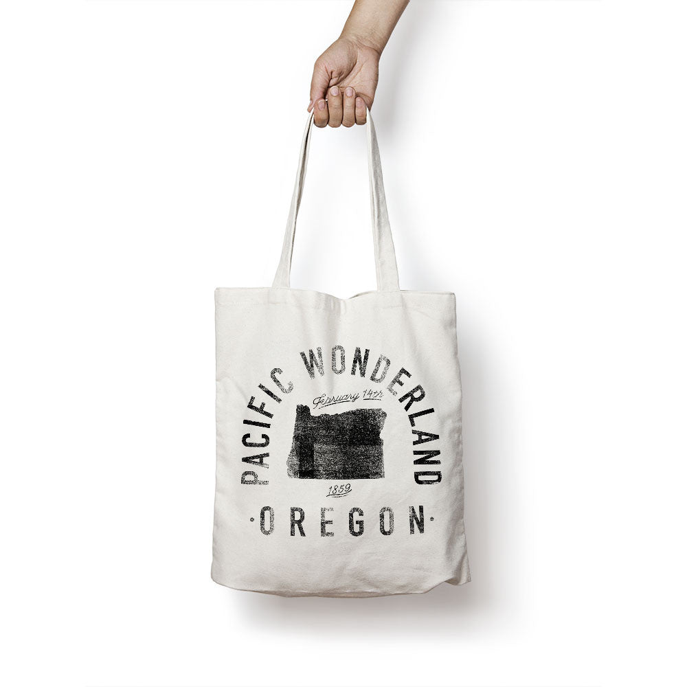 State of Oregon - Motto - Tote Bag - Parkway Prints