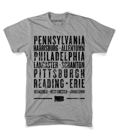 Pennsylvania State Shirt - Unisex - Parkway Prints