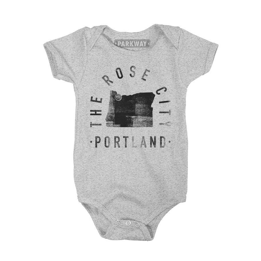 Portland Oregon - City Motto Onesie - Unisex - Parkway Prints