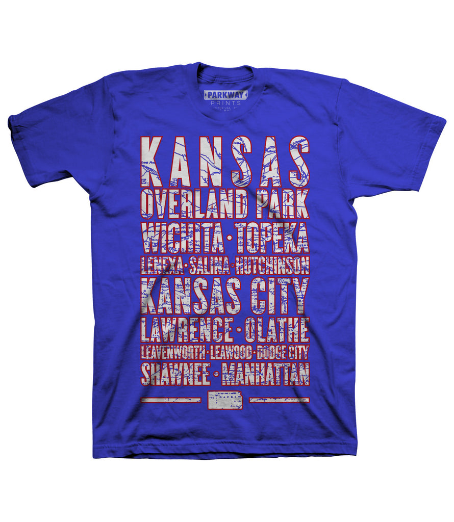 Kansas Varsity Shirt - Parkway Prints