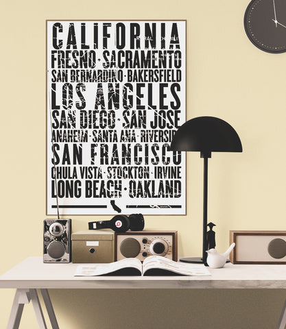 California State Poster - 18 x 24 - Parkway Prints