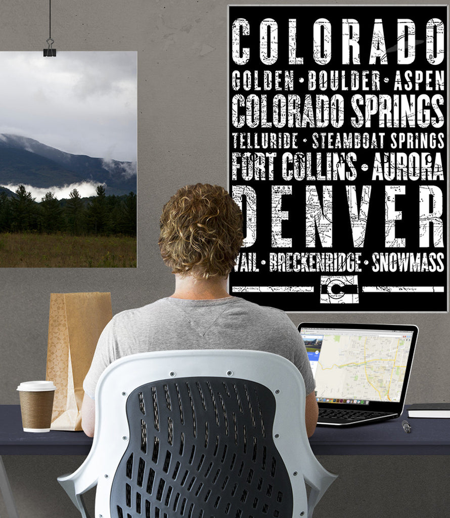 "Colorado State Poster - 18"" x 24"" - Parkway Prints"