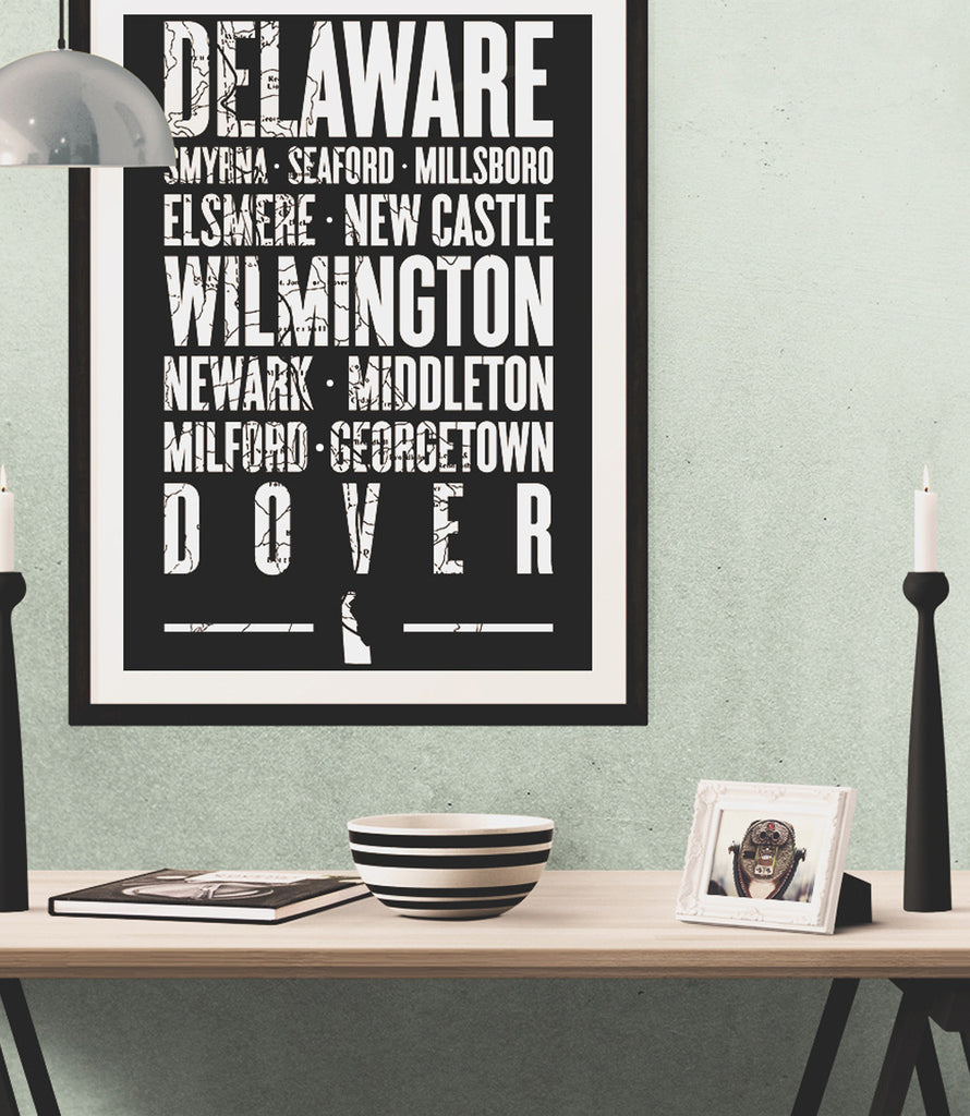 "Delaware State Poster - 18"" x 24"""