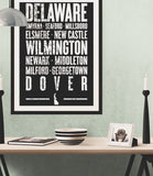 "Delaware State Poster - 18"" x 24"" - Parkway Prints"