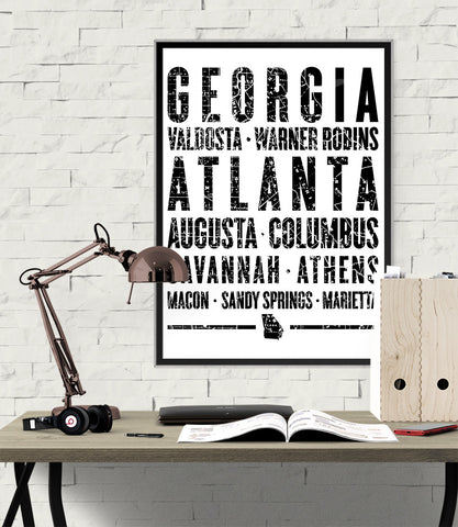 "Georgia State Poster - 18"" x 24"" - Parkway Prints"