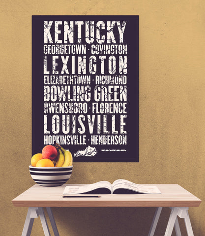 "Kentucky State Poster - 18"" x 24"" - Parkway Prints"