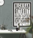 "Michigan State Poster - 18"" x 24"" - Parkway Prints"