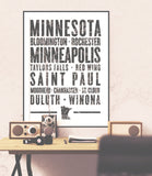 "Minnesota State Poster - 18"" x 24"" - Parkway Prints"