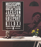 "Mississippi State Poster - 18"" x 24"" - Parkway Prints"