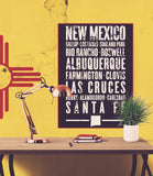 "New Mexico State Poster - 18"" x 24"" - Parkway Prints"