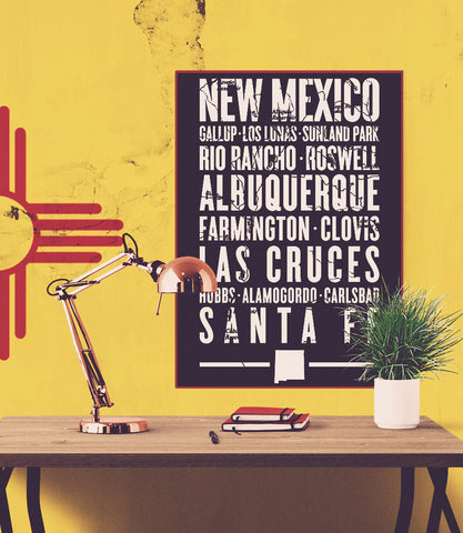 "New Mexico State Poster - 18"" x 24"""