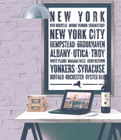 "New York State Poster - 18"" x 24"""