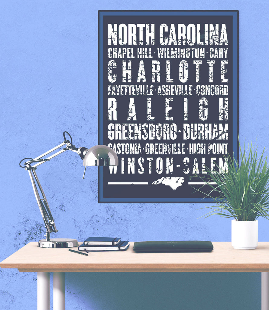 "North Carolina State Poster - 18"" x 24"" - Parkway Prints"