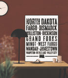 "North Dakota State Poster - 18"" x 24"" - Parkway Prints"