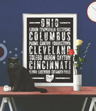 "Ohio State Poster - 18"" x 24"" - Parkway Prints"