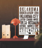 "Oklahoma State Poster - 18"" x 24"""